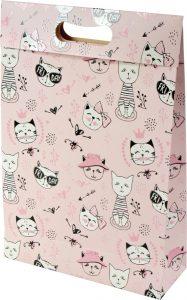 Sacola presenteável com aba – M – Gatinhas Miau