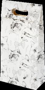 Sacola presenteável com aba – P – The Cats