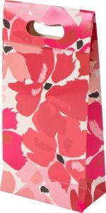 Sacola presenteável com aba – P – Flores de Vermelho