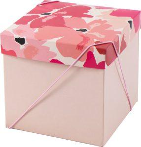 Caixa – Cubo – Flores de Vermelho