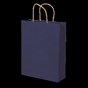 Premium Kraft – Kraft Azul – Sacola com alça papel – M