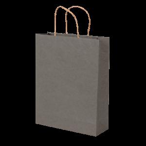 Premium Kraft – Kraft Cinza – Sacola com alça papel – M