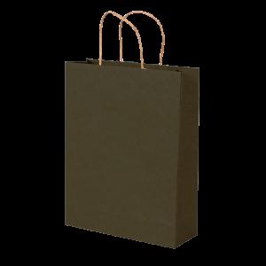 Premium Kraft – Kraft Verde – Sacola com alça papel – M