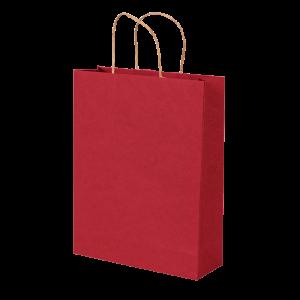 Premium Kraft – Kraft Vermelho – Sacola com alça papel – M