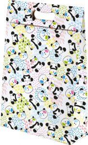 Sacola presenteável com aba – M – Panda