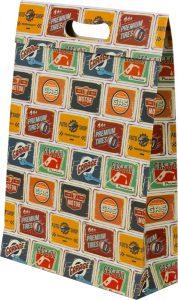 Sacola presenteável com aba – M – Placas Vintage