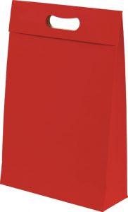 Sacola presenteável com aba – M – Vermelho