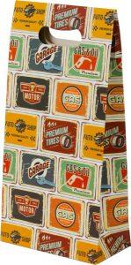 Sacola presenteável com aba – P – Placas Vintage