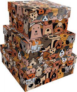 Kit Caixas Rígidas – Quadrado – Cães Urbanos