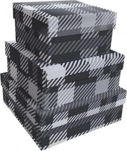 Kit Caixas Rígidas – Quadrado – Xadrez Clássico