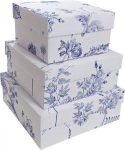 Kit Caixas Rígidas – Quadrado – Flores de Lisboa