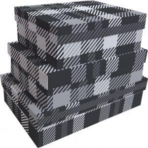 Kit Caixas Rígidas – Retangular – Xadrez Clássico