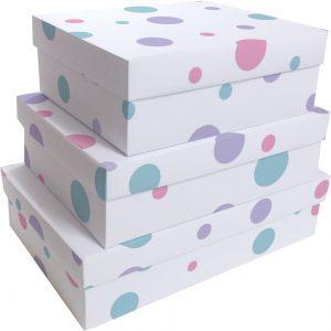 Kit Caixas Rígidas – Retangular – Confetti