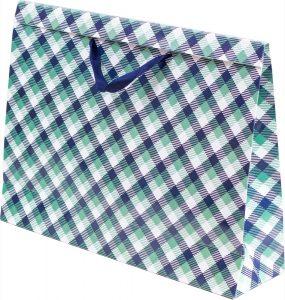 Basic Bag – G – Xadrez Verde e Azul