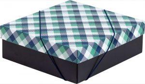 Caixa – M – Xadrez Verde e Azul