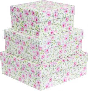 Kit Caixas Rígidas – Quadrado – Floral Rose