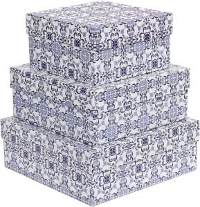 Kit Caixas Rígidas – Quadrado – Azulejo Português