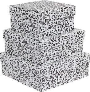 Kit Caixas Rígidas – Quadrado – Geometric