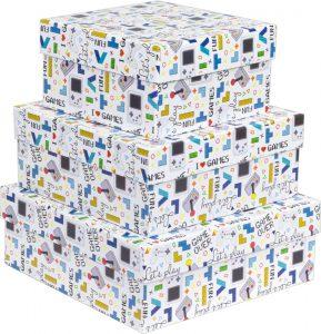 Kit Caixas Rígidas – Quadrado – Games