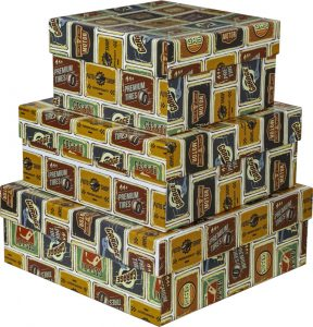 Kit Caixas Rígidas – Quadrado – Placa Vintage