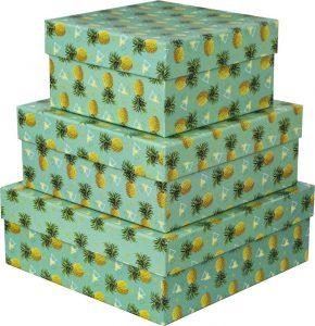 Kit Caixas Rígidas – Quadrado – Tribo Abacaxi