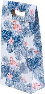 Sacola presenteável com aba – P – Flamingo