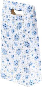 Sacola presenteável com aba – P – Rosas Azuis