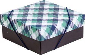 Caixa – P – Xadrez Verde e Azul