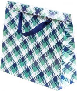 Basic Bag – P – Xadrez Verde e Azul