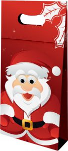 Sacola presenteável com aba – P – Papai Noel