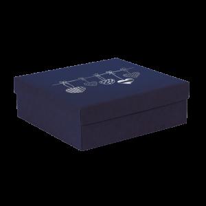 Premium Kraft – Azul Coração – Caixa tampa e fundo – M