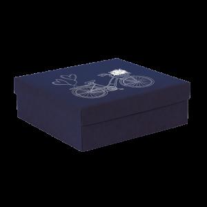 Premium Kraft – Azul Bicicleta – Caixa tampa e fundo – M