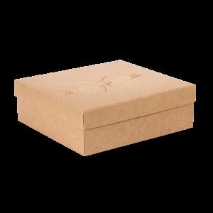 Premium Kraft – Natural Laço – Caixa tampa e fundo – M