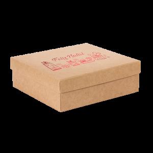 Premium Kraft – Natural Natal – Caixa tampa e fundo – M