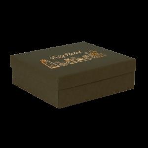 Premium Kraft – Verde Natal – Caixa tampa e fundo – M