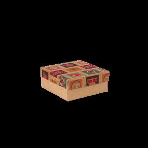 Premium Kraft – Placas Vintage – Caixa tampa e fundo – P
