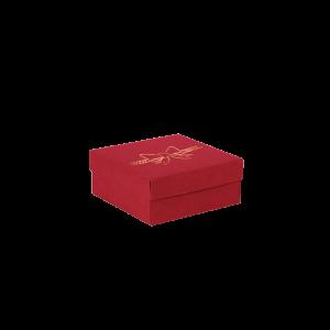 Premium Kraft – Vermelho Laço – Caixa tampa e fundo – P