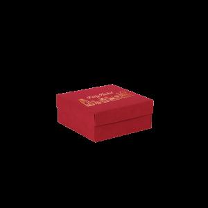 Premium Kraft – Vermelho Natal – Caixa tampa e fundo – P