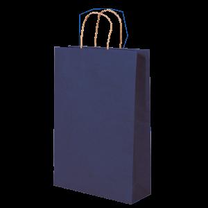 Premium Kraft – Kraft Azul – Sacola com alça papel – P