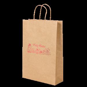 Premium Kraft – Natural Natal – Sacola com alça papel – P