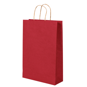 Premium Kraft – Kraft Vermelho – Sacola com alça papel – P