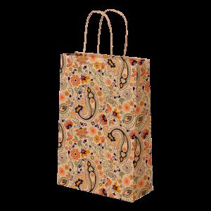 Premium Kraft – Floral Rústico – Sacola com alça papel – PP