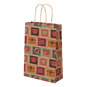 Premium Kraft – Placas Vintage – Sacola com alça papel – PP