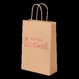 Premium Kraft – Natural Natal – Sacola com alça papel – PP