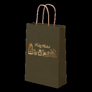 Premium Kraft – Verde Natal – Sacola com alça papel – PP