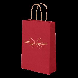 Premium Kraft – Vermelho Laço – Sacola com alça papel – PP