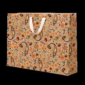 Premium Kraft – Floral Rústico – Sacola com alça algodão – G