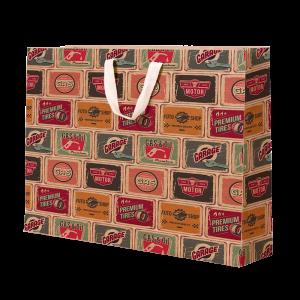 Premium Kraft – Placas Vintage – Sacola com alça algodão – G
