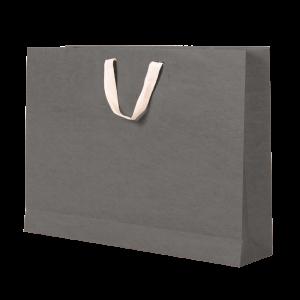 Premium Kraft – Kraft Cinza – Sacola com alça algodão – G