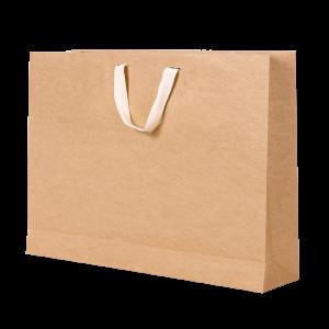 Premium Kraft – Kraft Natural – Sacola com alça algodão – G
